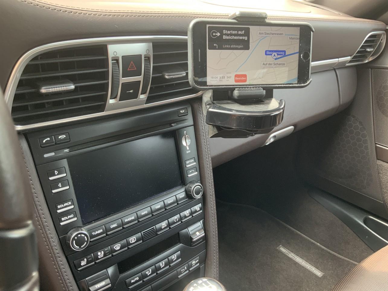 Handy Halterung Horizontal und Vertikal passend für Porsche 986/987/997/991/992/981/usw.
