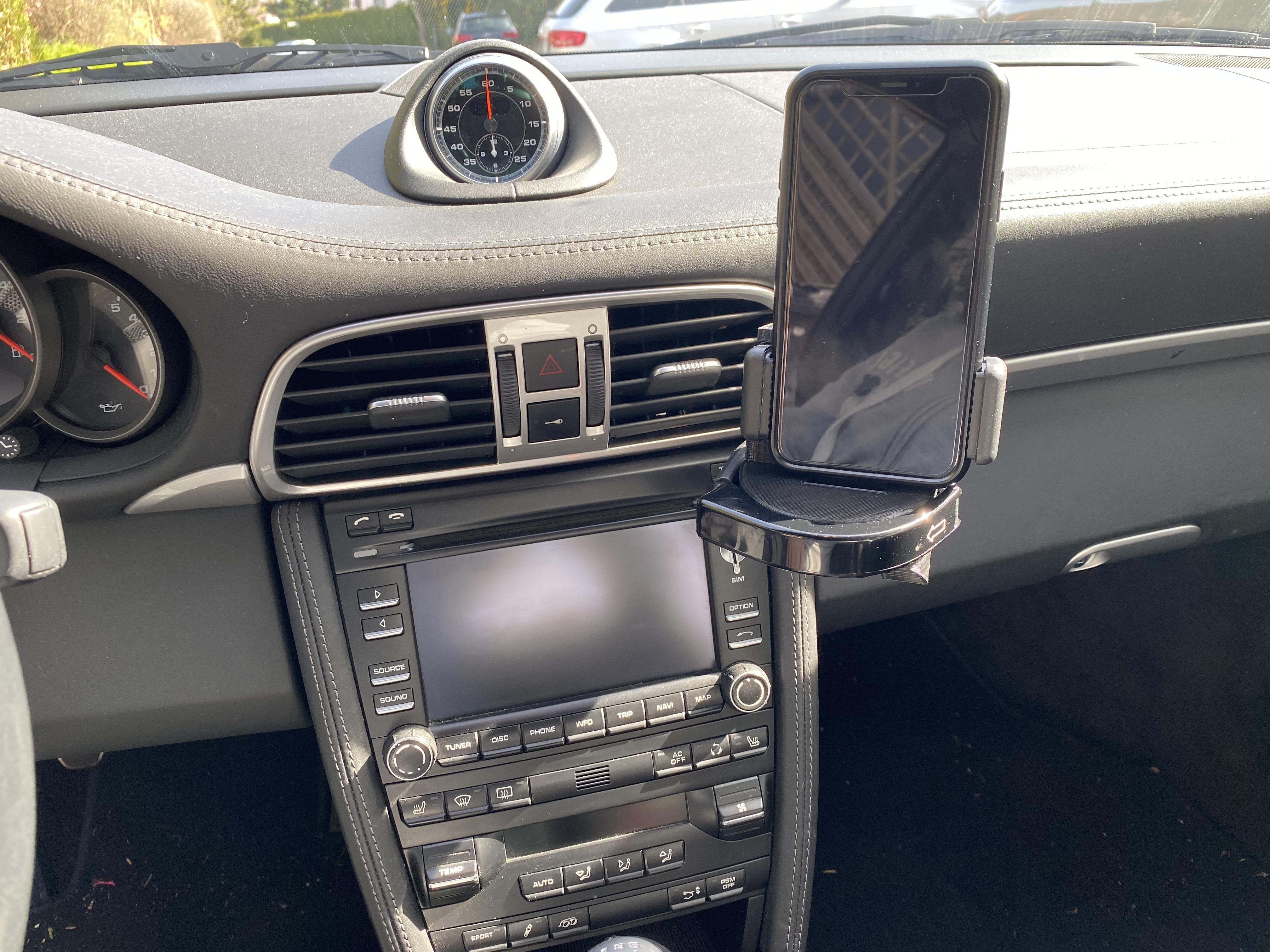 Handy Halterung Vertikal passend für Porsche 986/987/997/991/992/981/usw.